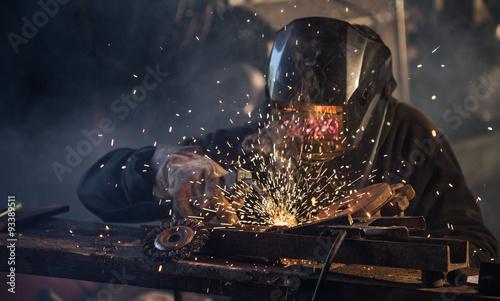 Türaufkleber Metall Welding work.