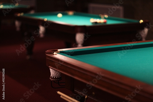Foto billiards, billiard balls on the table