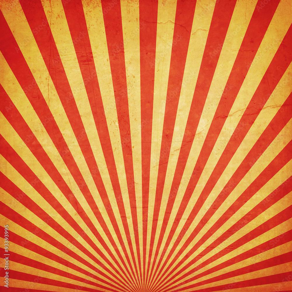 Fototapety, obrazy: sunburst retro background and duplicate grunge texture