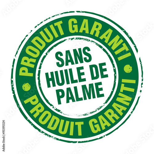 Fotografie, Obraz  Tampon - Garanti sans huile de palme