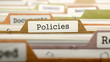 canvas print picture - Policies Concept. Folders in Catalog.