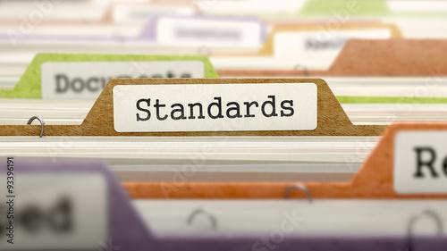 File Folder Labeled as Standards Fototapete