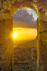 Plakat finestra tempio di Giove con vista