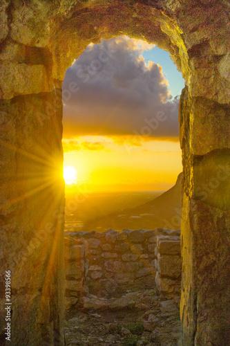 finestra tempio di Giove con vista - 93398566