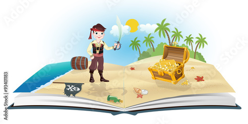Book about pirates and trea...