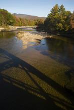 Bridge Shadow On Pemigewasset ...
