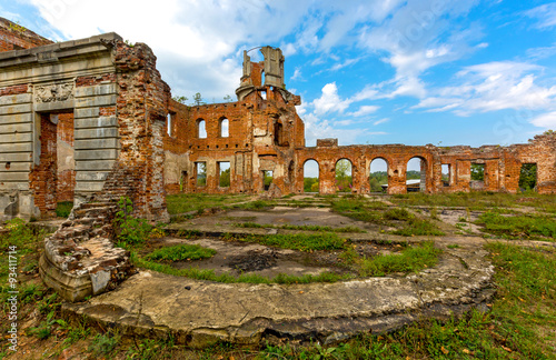 Poster Ruine Ruins of old Tereshchenko castle