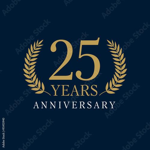 Photographie  25 anniversary royal logo