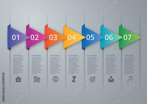 Fotografia  Vector illustration infographics seven options