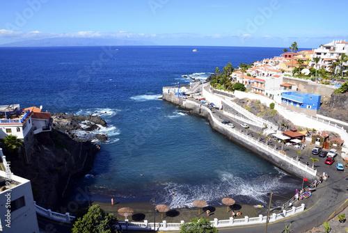 Tuinposter Canarische Eilanden View of Puerto Dantiago beach,Los Gigantes,Tenerife,Canary Islands.