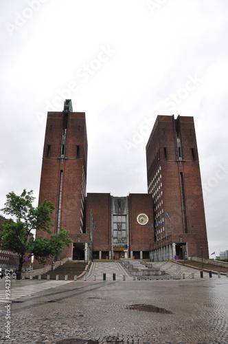 Photo  Rathaus von Oslo Norwegen