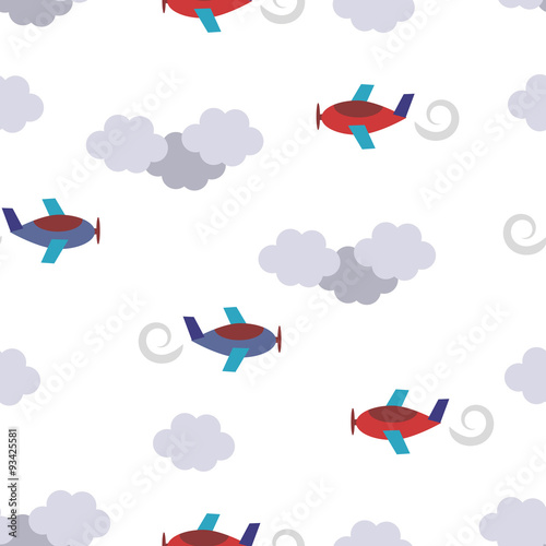 bezszwowy-wzor-z-samolotami-w-chmurach