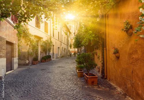 Fototapeta włoska stara uliczka