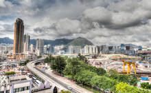 Urban Development At Hong Kong's Old Airport Site. HDR Rendering