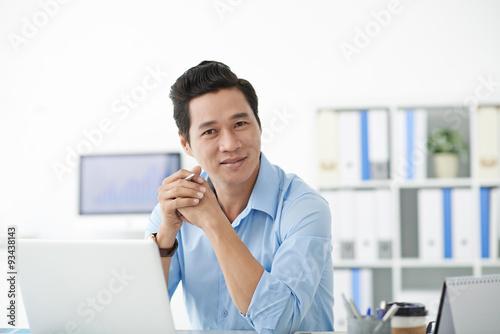 Obraz Confident manager - fototapety do salonu