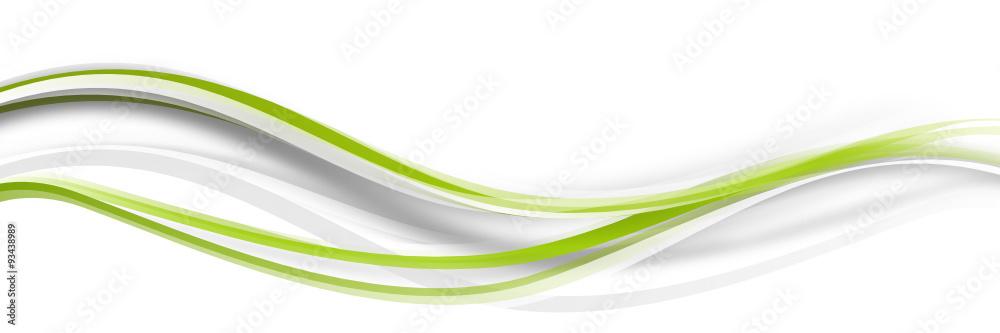 Fototapeta welle wellen grün Band Streifen Business