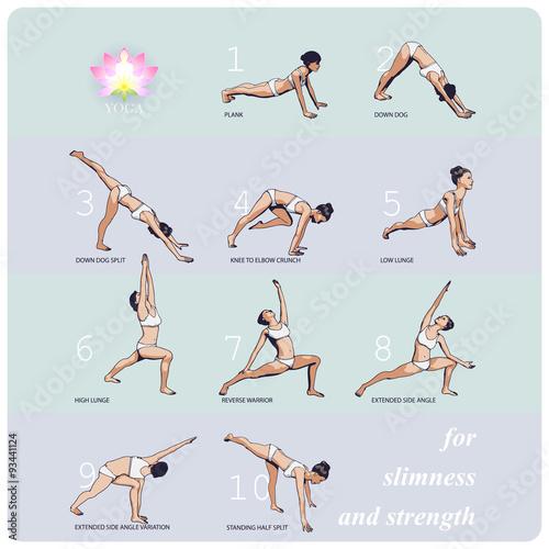 Fotografia  YOGA for Slimness and Strength