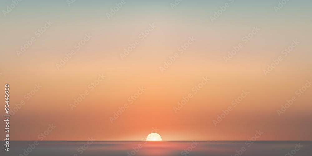 Fototapety, obrazy: Paysage mer aube