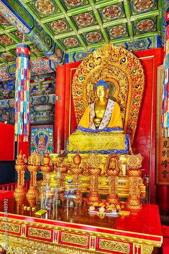 Fotografie, Obraz  Interior view of Yonghegong Lama Temple. Beijing.