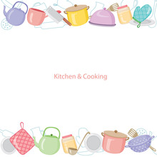 Kitchen Equipment Background, ...