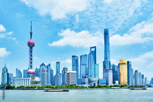 Foto op Aluminium Shanghai Shanghai, skyscrapers view of the city .