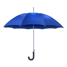 Realistic Blue Umbrella