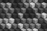 3D gray geometric seamless pattern background
