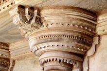 Pillar Top At Gwalior Fort