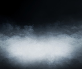 Fototapeta Smoke over black background