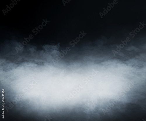 In de dag Rook Smoke over black background