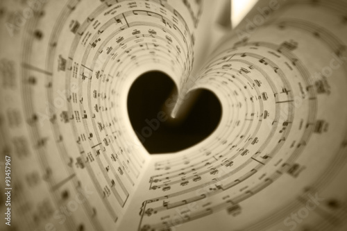Canvas Print music series in the form of heart
