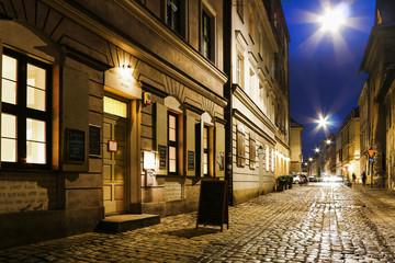 Panel Szklany Kazimierz, former jewish quarter of Krakow, Poland.