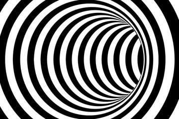 Black and White Striped Abstract Tube Background