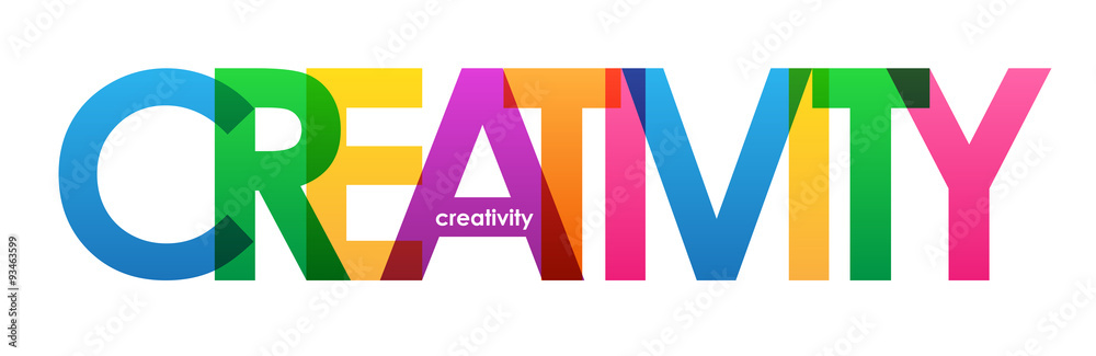 """Fototapety, obrazy: """"CREATIVITY"""" Overlapping Vector Letters Icon"""