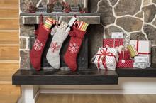 Christmas Stockings And Presents