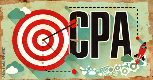 Photo  CPA Concept. Poster in Flat Design.