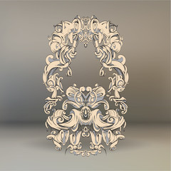 drawing hand vintage frame baroque elements for advertising in vintage style, vector ornament