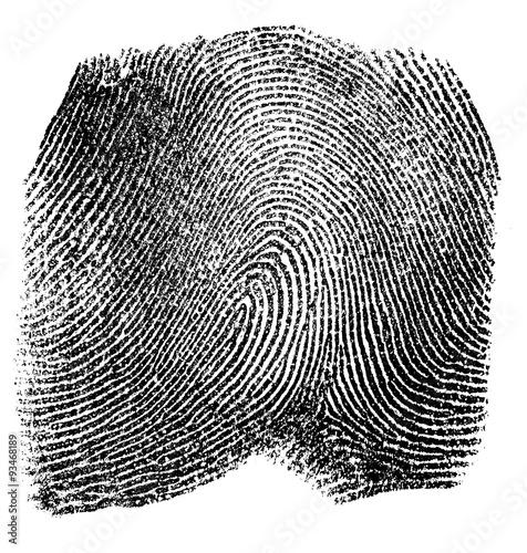 Photo Fingerprint on white background
