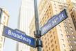Broadway 34th Street Sign Manhattan