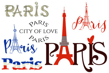 FototapetaParis lettering set