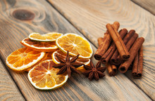 Spices And Dried Oranges