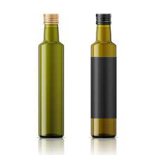 Olive Oil Bottle Template With...