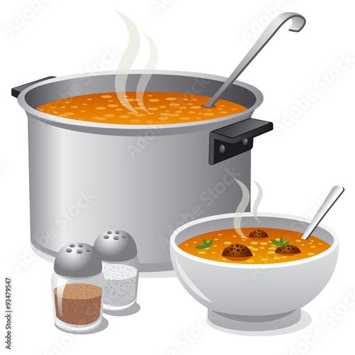 Fotografie, Obraz  hot soup