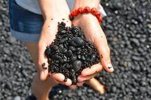 Black Sand Beach In Hawaii, Ma...