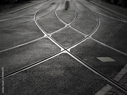 rail crossing of tramway