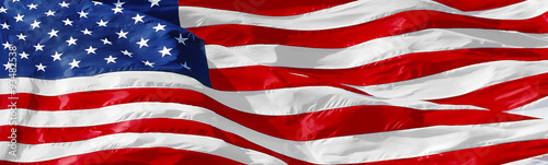 Recess Fitting United States American flag background