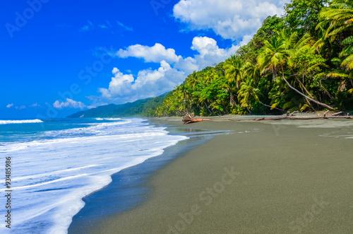 Fotografie, Obraz  Wild beach at Corcovado Jungle in Costa Rica