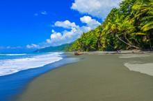 Beach At Corcovado Jungle In Costa Rica