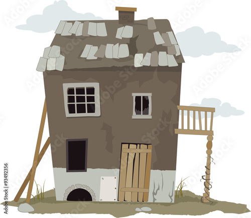Tablou Canvas Small, run down, shanty house, vector illustration, ESP 8, no transparencies