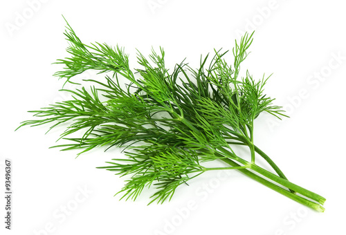 Tablou Canvas fresh dill on white background